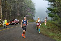 Two Male Runners Competing in the 2019 Blue Ridge Marathon