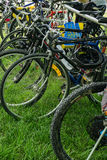 Roanoke Greenway Adventure Triathlon - Bikes Royalty Free Stock Photo