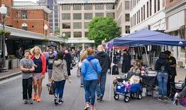 Roanoke Harry Potter Festival. Roanoke, VA – May 13th: Visitors and vendors at the Roanoke Harry Potter Festival located in downtown, Roanoke, VA on May stock photo