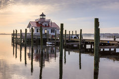 Roanoke Marsh Lighthouse Manteo North Carolina Fotografia Stock Libera da Diritti