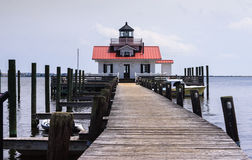 Roanoke Marsh Lighthouse Manteo North Carolina Fotos de archivo