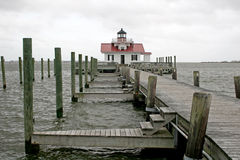 Roanoke marshes lighthouse Royalty Free Stock Photo