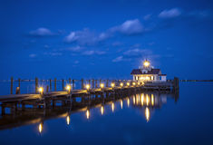 Roanoke Marshes Lighthouse Manteo NC Outer Banks North Carolina Royalty Free Stock Photo