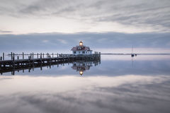 Roanoke Marshes Lighthouse Manteo North Carolina Stock Photo