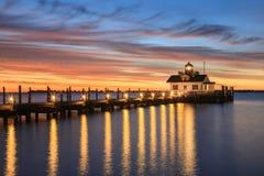Roanoke Marshes Lighthouse Manteo North Carolina Royalty Free Stock Photography