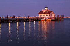 The Roanoke Marshes Lighthouse in North Carolina Royalty Free Stock Image