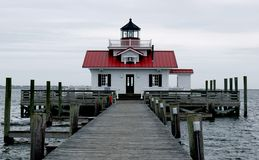 Roanoke Marshes Lighthouse royalty free stock photos