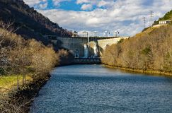 Roanoke River View of the Smith Mountain Hydroelectric Dam - 3 stock photos
