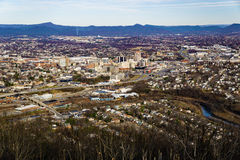 Roanoke-Tal vom Mühlberg, Virginia, USA Stockfotografie