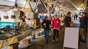View of the Farmers Market, Roanoke, Virginia, USA stock photography