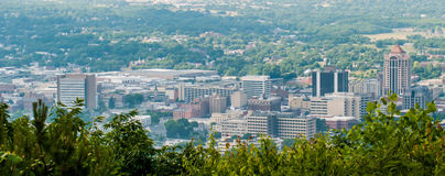 Roanoke virginia city skyline on a sunny day Stock Photos