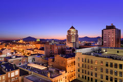 Roanoke Virginia Skyline stock afbeeldingen