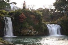 Roar of Falls Park Spot Japan. Roar of waterfall at Park Spot Japan royalty free stock image