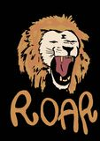 Roar lion. Image of roar lion with text Stock Photo