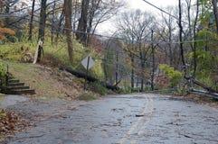 Roard преградило с повреждением от Sandy Стоковое Фото