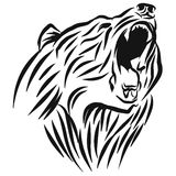 A roaring Bear head logo. This is vector illustration ideal for a mascot and tattoo or T-shirt graphic Royalty Free Stock Photo