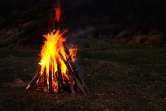 Roaring campfire Royalty Free Stock Photos