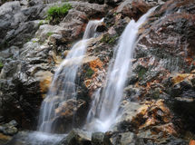 Roaring Brook Falls. In Keene Valley, NY, is a fantastic two-level waterfall royalty free stock image