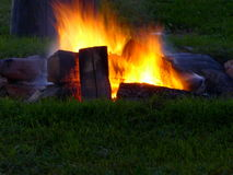 Roaring Campfire stock images