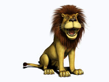Roaring cartoon lion. Stock Photography