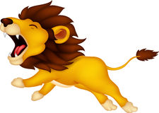 Roaring cartoon Lion Royalty Free Stock Images