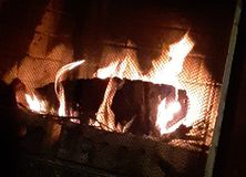 Roaring fire stock photos