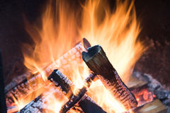 Roaring fire Stock Image