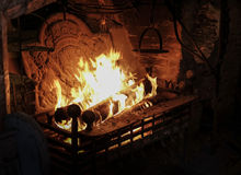 Roaring fire Royalty Free Stock Photo