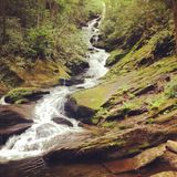 Roaring Fork Falls, Yancey County North Carolina. Stock Photos