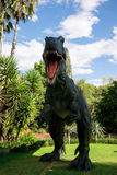 Roaring front standing Spinosaurus display model in Perth Zoo Royalty Free Stock Images