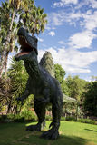 Roaring front standing Spinosaurus display model in Perth Zoo Stock Photos