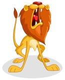Roaring lion vector illustration