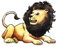 Roaring lion. Roaring brown lion wild animal king Stock Images