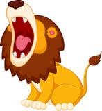 Roaring lion cartoon Royalty Free Stock Photos