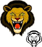 Roaring Lion Head Mascot Stock Images