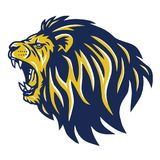 Roaring Lion Head Mascot Stock Photography