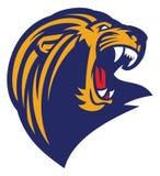 Roaring lion head mascot Stock Image