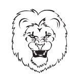 Roaring lion head Stock Images