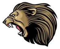 Roaring lion head Stock Photos