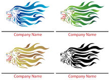 Roaring Lion. Logo design with isolated white background Stock Photography