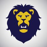 Roaring Lion Logo Vector. Design Template Royalty Free Stock Image