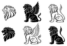 Roaring Lion Silhuette Royalty Free Stock Photo