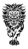 Roaring lion tattoo Stock Image