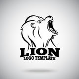 Roaring Lion vector logo template for sport teams, brands etc. Royalty Free Stock Photo