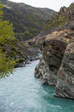 The Roaring Meg (Te Wai a Korokio), Kawarau River, Central Otago, south island of New Zealand Royalty Free Stock Images