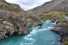 The Roaring Meg (Te Wai a Korokio), Kawarau River, Central Otago, south island of New Zealand Royalty Free Stock Image