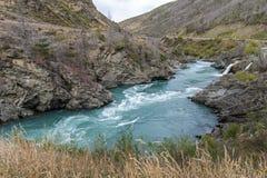 The Roaring Meg (Te Wai a Korokio), Kawarau River, Central Otago, south island of New Zealand Royalty Free Stock Photos