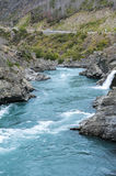 The Roaring Meg (Te Wai a Korokio), Kawarau River, Central Otago, south island of New Zealand Royalty Free Stock Photo