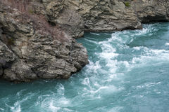The Roaring Meg (Te Wai a Korokio), Kawarau River, Central Otago, south island of New Zealand Stock Photos