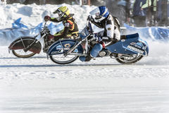 Roaring motors. Russia. The Republic Of Bashkortostan. The Ufa. Racing on ice. The Championship Of Russia. A final . February 1, 2014 Stock Images